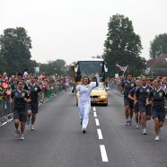 Olympic Torch In Dref Ffug